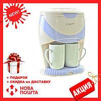 Кофеварка капельная MAESTRO MR-402 белая   кофемашина Маэстро, Маестро (600 Вт, 0.25 л)