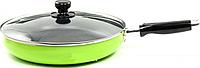 Сковорода с антипригарным покрытием с крышкой Maestro MR-1200-26 зеленая| сковородка Маэстро, сотейник Маестро, фото 1