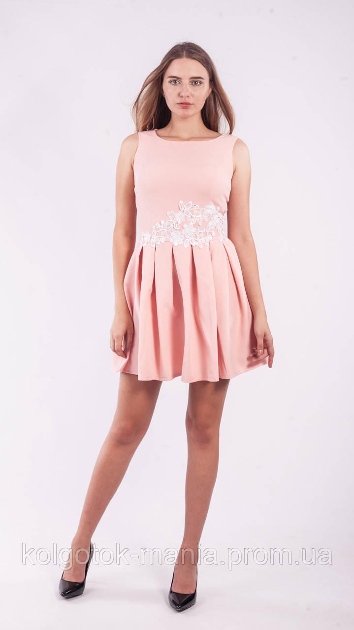 Платье женское с кружевными цветами