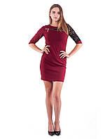 Платье женское с вставкой из гипюра, фото 1