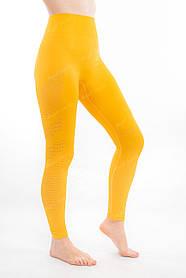 Спортивные лосины женские  леггинсы для йоги/фитнеса Angel Swert (желтые)