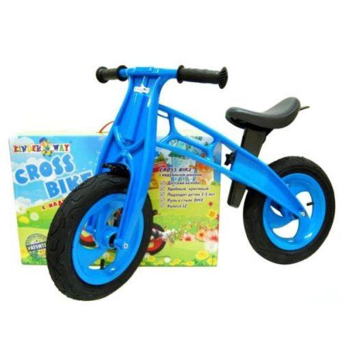 """Беговел Cross Bike 12"""" Складной Kw-11-016 Синий"""