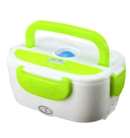 Електричний ланч-бокс з підігрівом Benson BN-035 зелений | контейнер для їжі Бенсон | ланчбокс Бэнсон