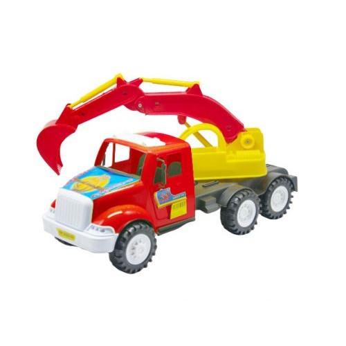 Грузовик Дампер Экскаватор (Красный) Kw-13-002-1