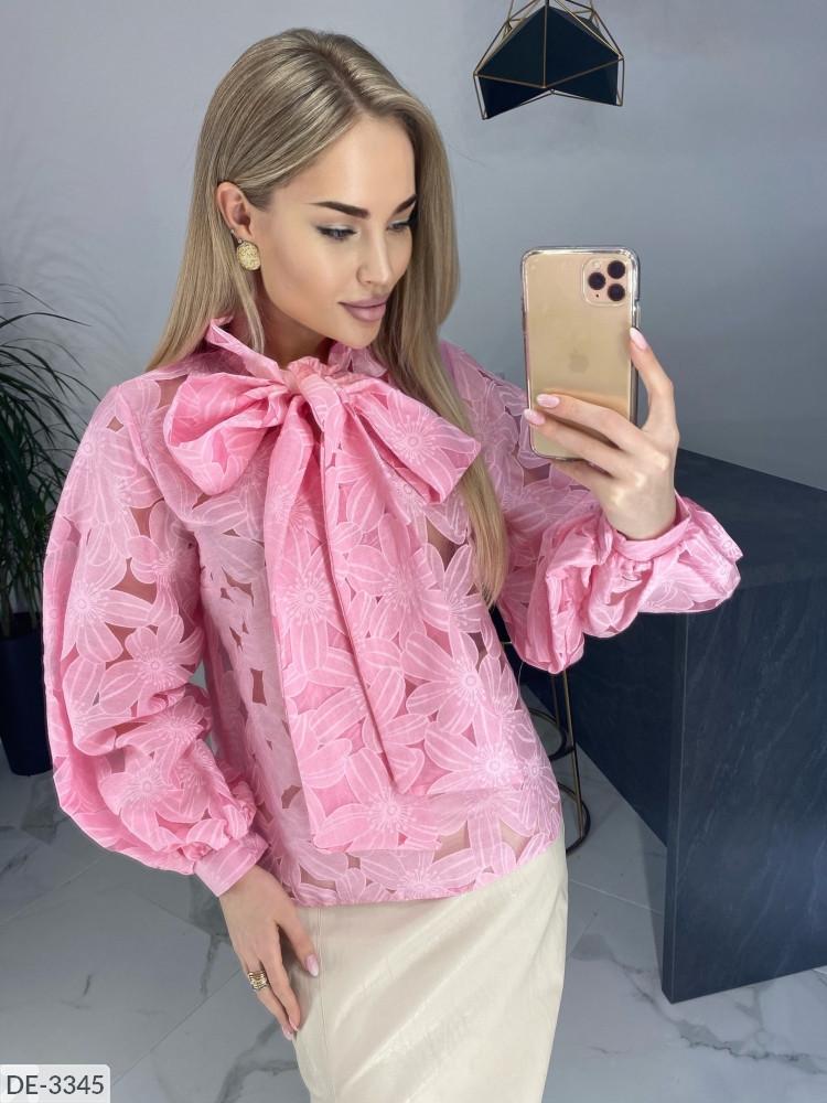 Блузка женская кофточка с бантом рубашка размеры 42-44 46-48  Новинка 2020 есть цвета