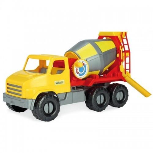 Детская Бетономешалка City Truck Желто-Красная 39365