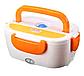 Электрический ланч-бокс с подогревом Benson BN-035 оранжевый | контейнер для еды Бенсон | ланчбокс Бэнсон, фото 6