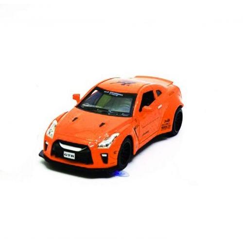 Детская Машинка Nissan Gtr Из Серии Автопром Оранжевая 7862