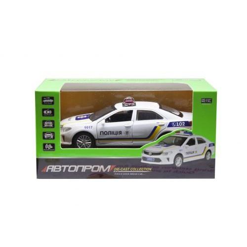 Детская Машинка Полиция Toyota Camry Из Серии Автопром Белая 7844