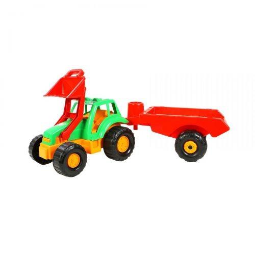 Детская Машинка Трактор С Прицепом Салатовая 993