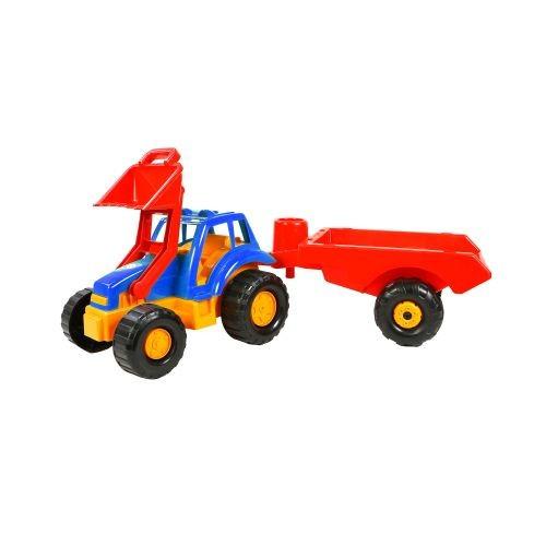 Детская Машинка Трактор С Прицепом Синяя 993Пр