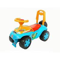 Детская Машинка-Каталка Орион Голубая С Желтым (Ориоша 140У)