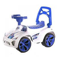 Детская Машинка-Каталка Орион С Музыкой Белая С Синим (Ламбо 021 В.2)
