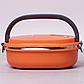 Ланч-бокс Benson BN-044 (700 мл) оранжевый | контейнер для еды Бенсон | ланчбокс Бэнсон, фото 5
