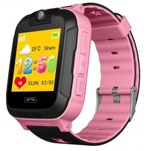 Детские Умные Смарт Часы Baby Smart Watch Td07S С Gps Черно-Розовые (M1)