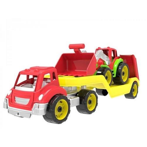 Детский Автовоз С Трактором Технок Красный 3916