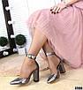 Эффектные женские туфли на каблуке на ремешке, фото 8