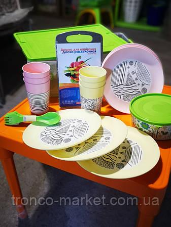 """Набор посуды """"Пикник"""" с декором на 6 персон, фото 2"""