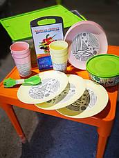 """Набор посуды """"Пикник"""" с декором на 6 персон, фото 3"""