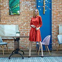 Модное платье для койтейльной вечеринки цвет кирпичный
