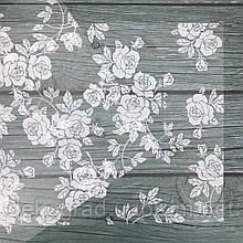 Веллум с принтом 30х30см (Розы белые)