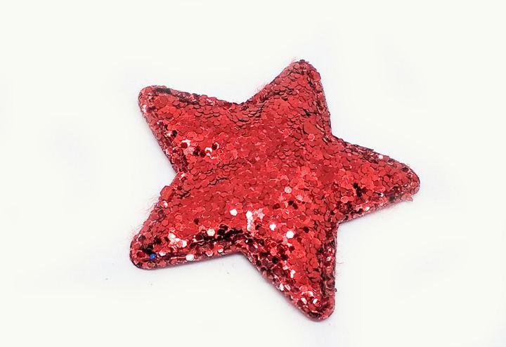 Аппликация из пайеток на одежду Звезда глиттерная 10 шт