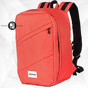 Рюкзак для ручной клади 40х20х25 Wascobags RW Коралловый (Wizz Air / Ryanair)