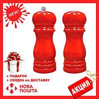 Набор соль/перец MAESTRO MR-1616 красный   набор для специй Маэстро   солонка и перечница Маестро