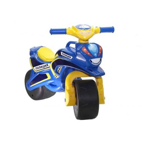 Мотоцикл-Каталка Полиция (Синий) Музыкальный 0139/57
