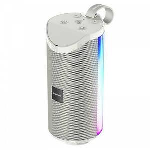 Портативная Беспроводная Bluetooth Колонка Borofone Br5 С Цветной Подсветкой Серая (М1)