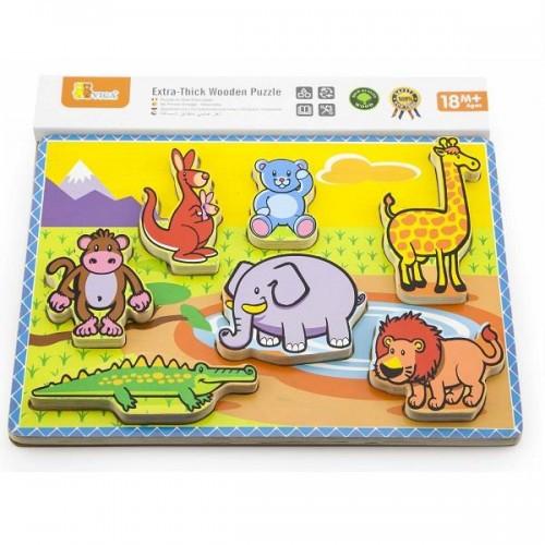 Рамка-Вкладыш Viga Toys Животные (56435)