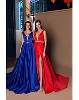 Вечернее платье атлас