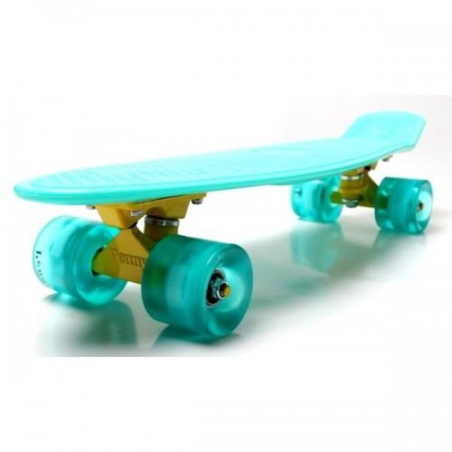 Скейтборд, Пенни Борд Penny Board Menthol Гравировка Светящиеся Колеса (Sd)