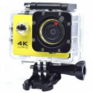 Спортивная Экшн Камера 4К Sj7000B (Видеорегистратор, Аквабокс, Крепления) Желтая (D2)