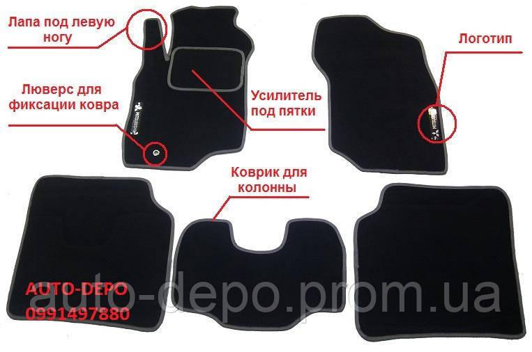 Ворсовые коврики Toyota Land Cruiser 200 2012-