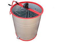 Медогонка на 4 рамки (поворотна алюмоцинк, ручна), фото 1