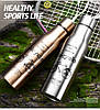 Термокружка металлическая Benson BN-068 (350 мл) золотая | термостакан из нержавеющей стали Бенсон | термос - Фото