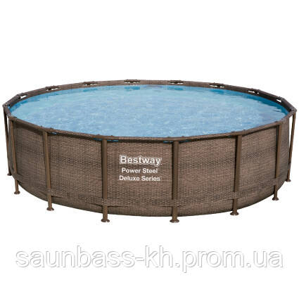 Bestway Надувний басейн Bestway Ротанг 56666 (488х122) з картриджних фільтрів