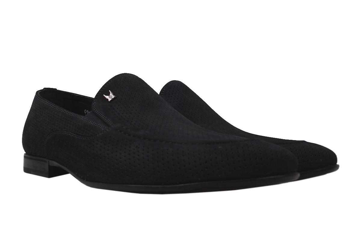 Туфлі чоловічі Clemento натуральна замша, колір синій, розмір 40-45