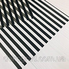 Веллум с принтом 30х30см (Полосы черные)