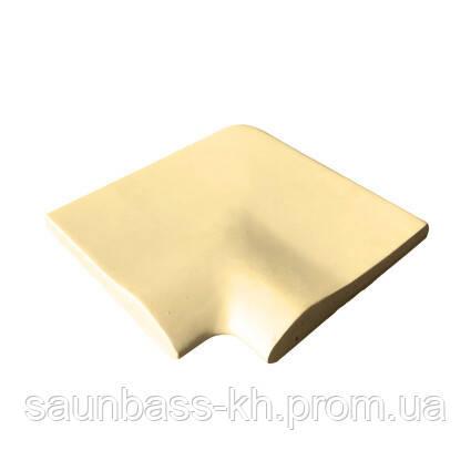 Угловой копинговый камень Aquazone 320x400x50-25 мм, бежевый