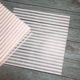 Веллум з принтом 30х30см (білі Смуги), фото 2