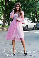 Женское платье короткое воздушное с Фатином