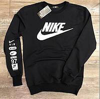 Мужская футболка с рукавом черная демисезонная (Свитшот - Толстовка) в стиле Nike