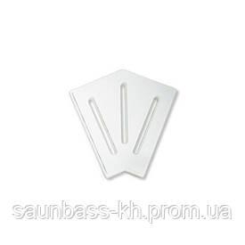 Кутовий елемент AquaViva DK-20-2 Matt для переливання решітки 45° 190/25 мм (білий)