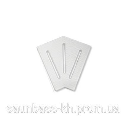Кутовий елемент AquaViva KK-25-2 Classic для переливання решітки 45° 245/25 мм (білий)