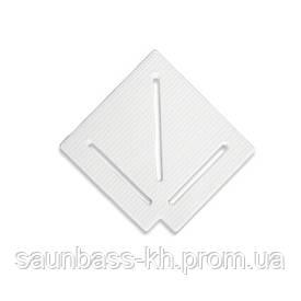 Кутовий елемент AquaViva KK-15-1 Classic для переливання решітки 90° 145/25 мм (білий)