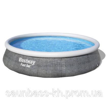Надувной бассейн Bestway 57372 (457х107 см) с картриджным фильтром и лестницей