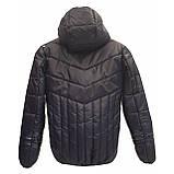 Демісезонна коротка курточка на хлопчика підлітка, колір синій, р-ри 140-170, мод.Даріо, фото 3