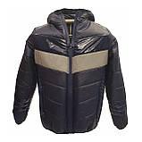 Демісезонна коротка курточка на хлопчика підлітка, колір синій, р-ри 140-170, мод.Даріо, фото 2